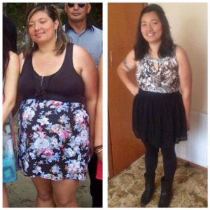 Iritana Rongonui, who's now 20kg